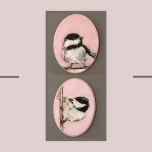 مجموعه دوتایی نقاشی پرنده