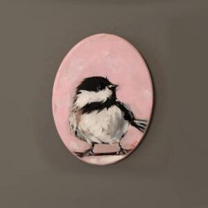نقاشی اکرلیک پرنده