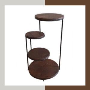میز چوبی چهارطبقه