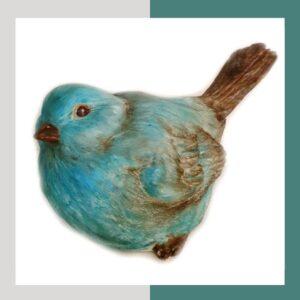 مجسمه رومیزی پرنده آبی