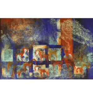 نقاشی رنگ روغن مدرن ایرانی