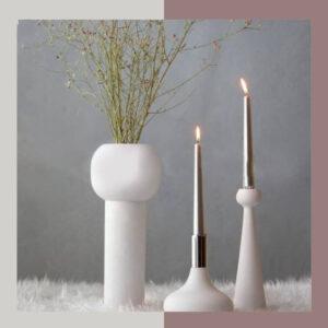 گلدان مینیمال چوبی