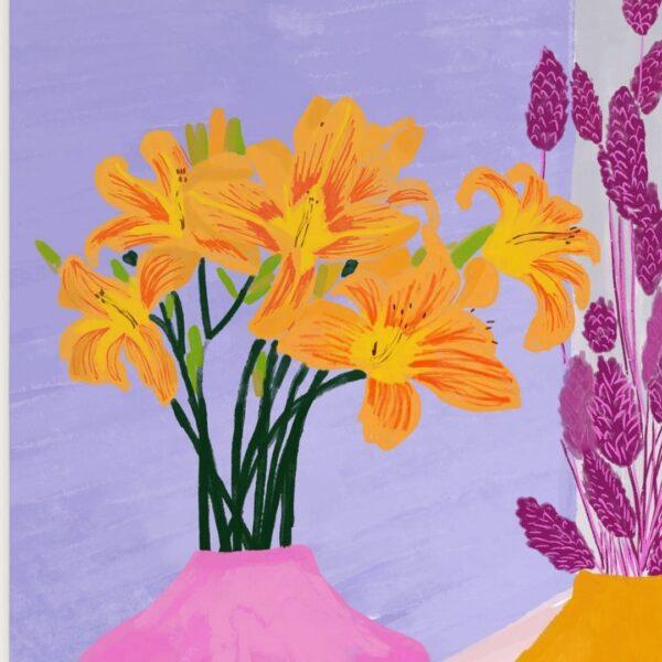تابلوی دکوراتیو گلدان
