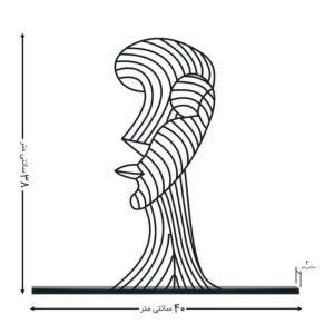 مجسمه فلزی آرت لاین